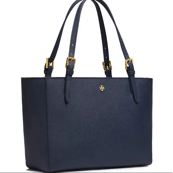 6c25059e96a Tory Burch Bags | Emerson Place Buckle Tote Royal Navy | Poshmark